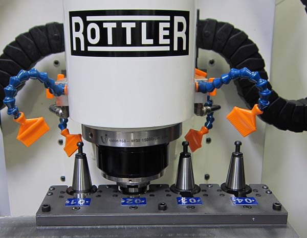 Rottler P69 5 Axis CNC Cylinder Head Porting Machine - Detail