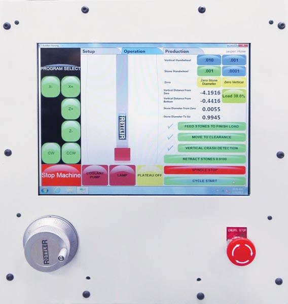 Rottler H77 Vertical Honing Machine - Controls