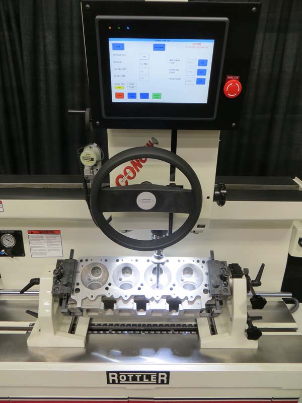 Rottler SG8MTS MANUALMATIC Cylinder Head Valve Seat and Guide Machine Utilizing Fixed Carbide Centering Pilots