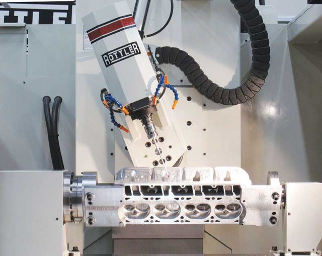 Rottler P69 5 Axis CNC Cylinder Head Porting Machine
