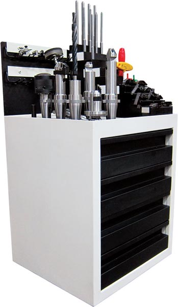 Rottler SG10A Cylinder Head Valve Seat & Guide Machine - Tool cabinet